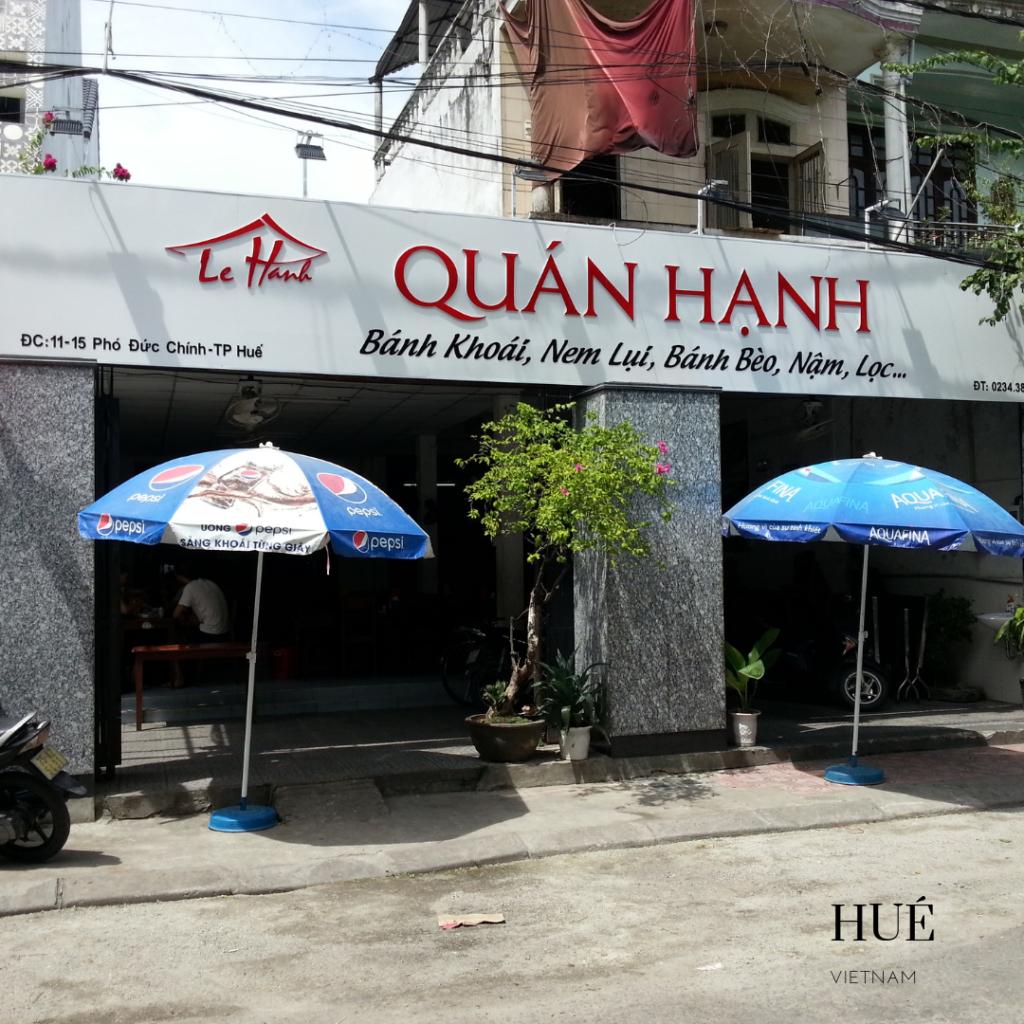Quan Hanh restaurant Hué