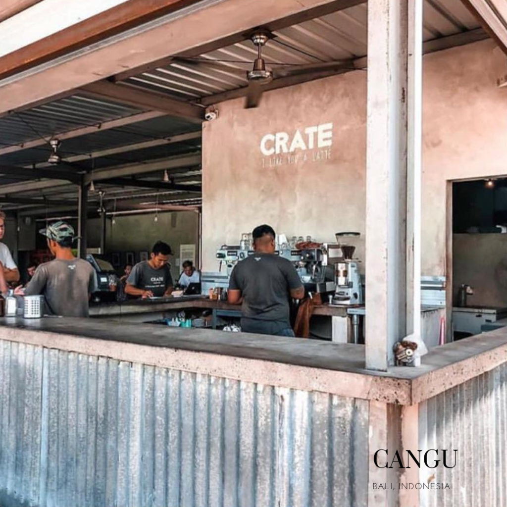 Crate cafe entrance