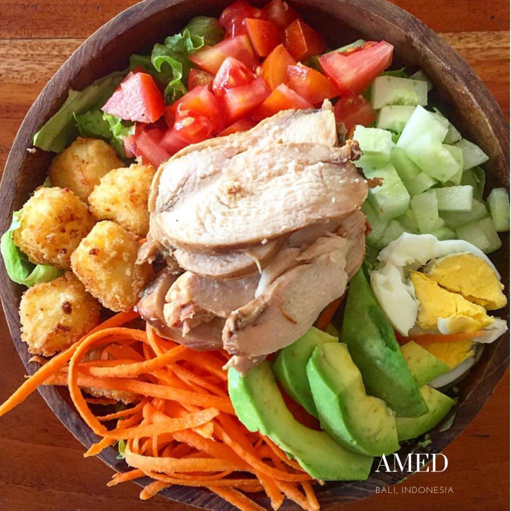 Gluten free chicken salad in Amed