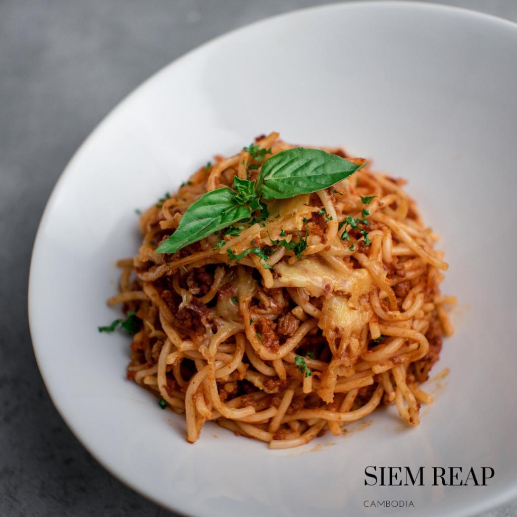 Gluten free pasta bolognaise Siem Reap