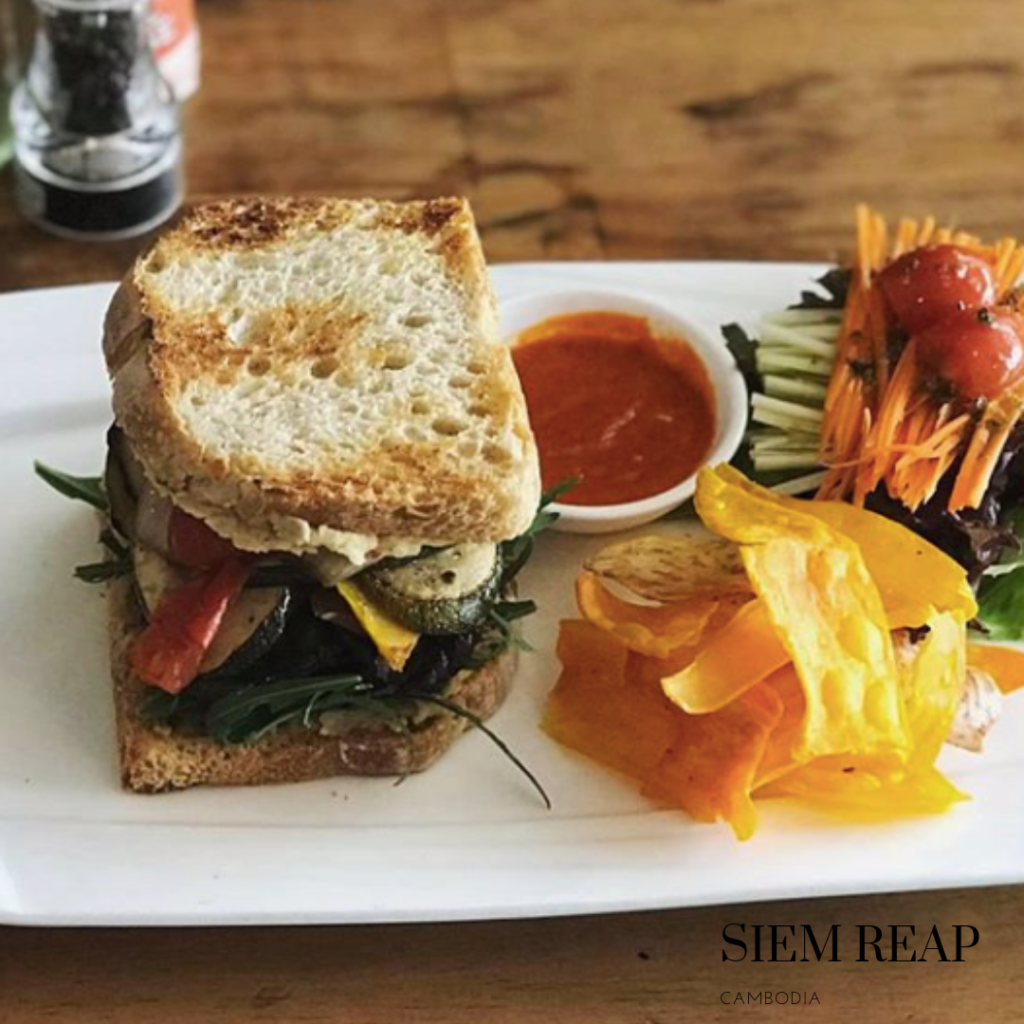 Gluten free sandwich at Siem Reap