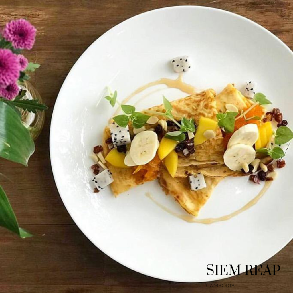 Gluten free crepe in Siem Reap