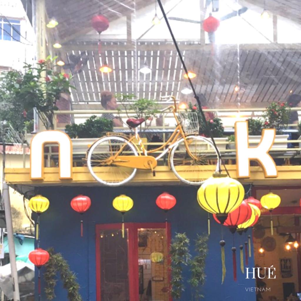 Nook entrance restaurant in Hué