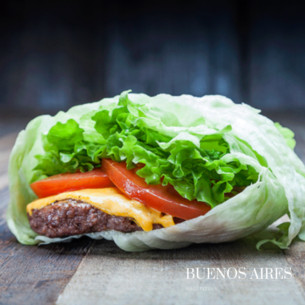 salad gluten free burger