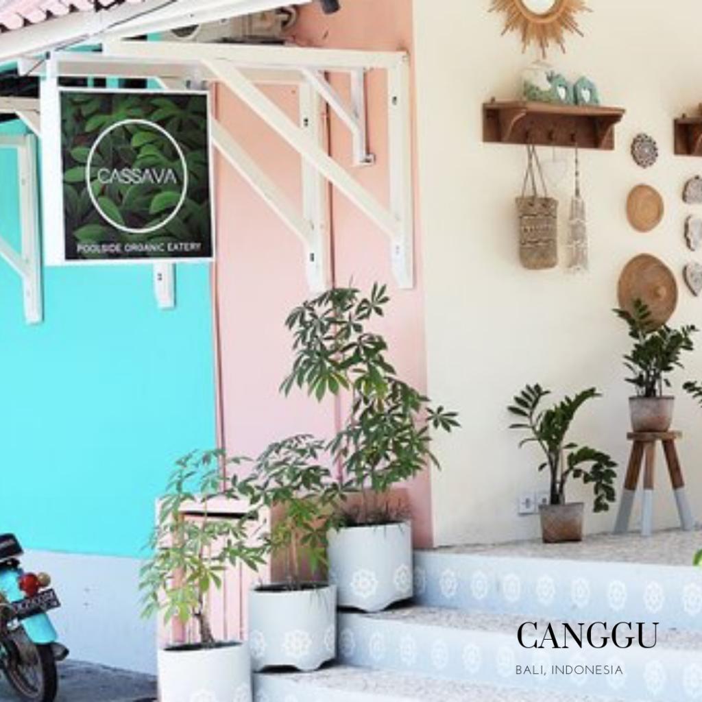 Entrance 100 % gluten free restaurant in Canggu La Cassava