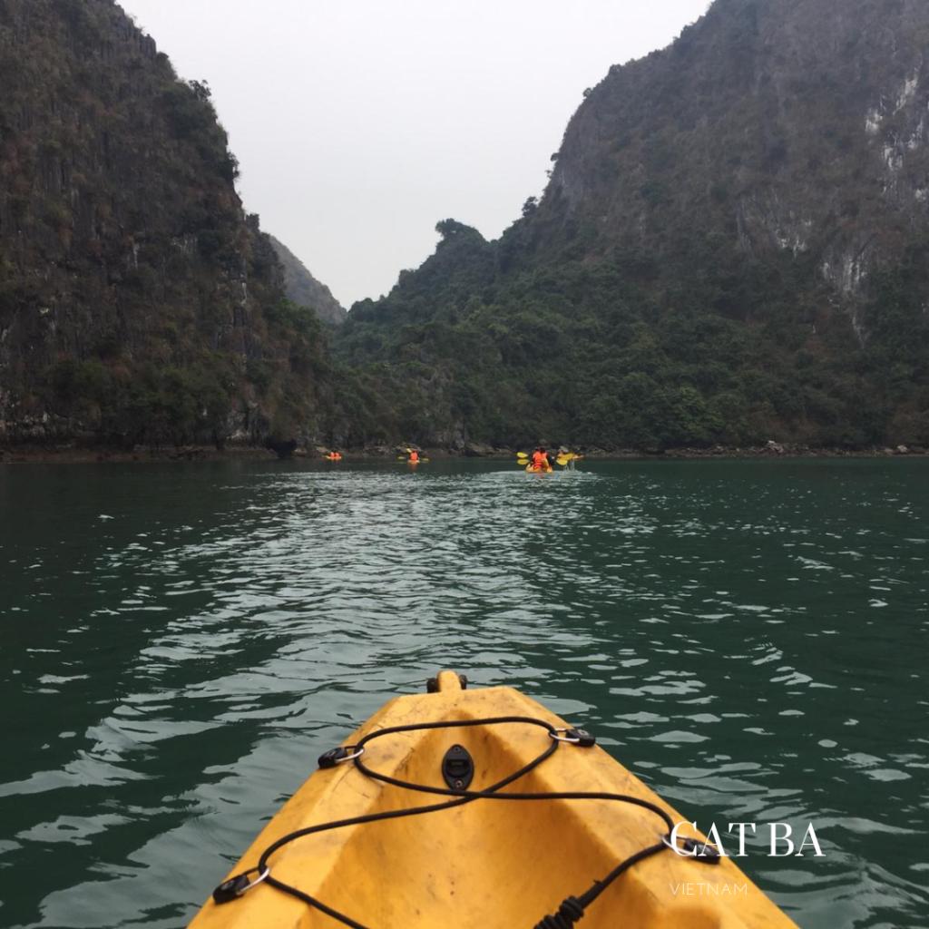 Kayak trip in Cat Ba