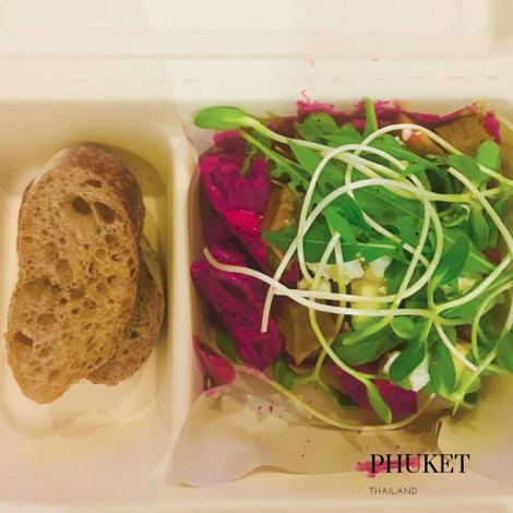 gluten free salad in Phuket with gluten free bread