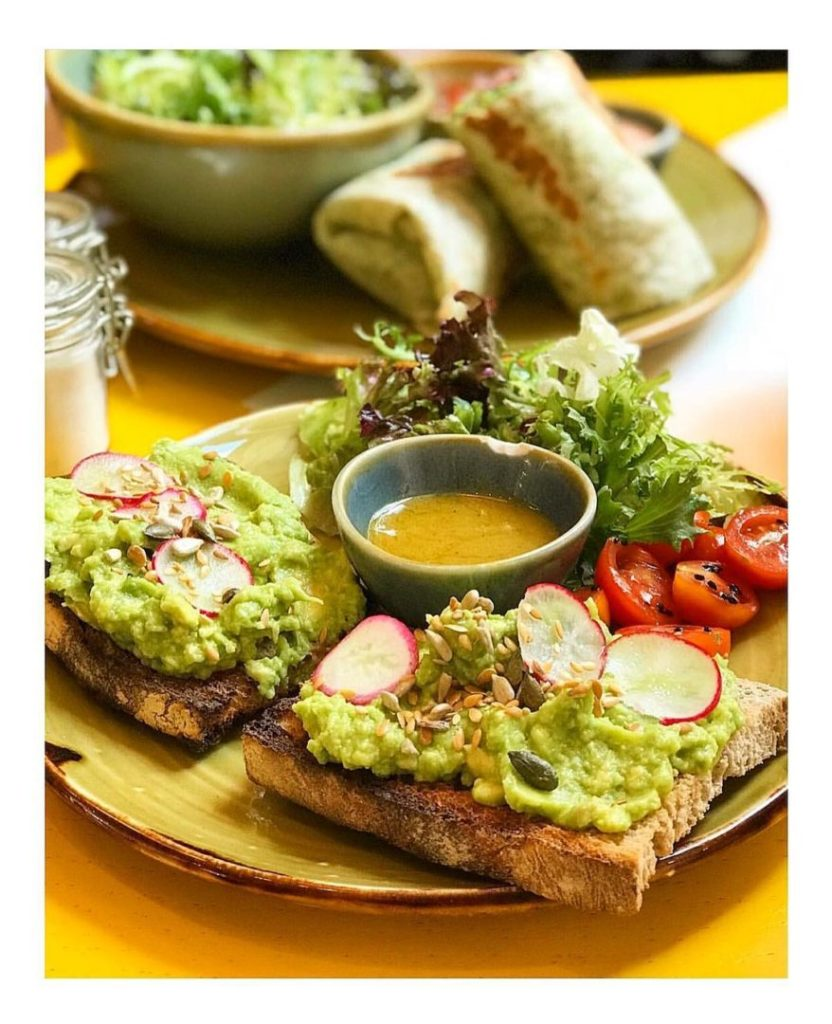 Avocado toast helthy gluten free place in London