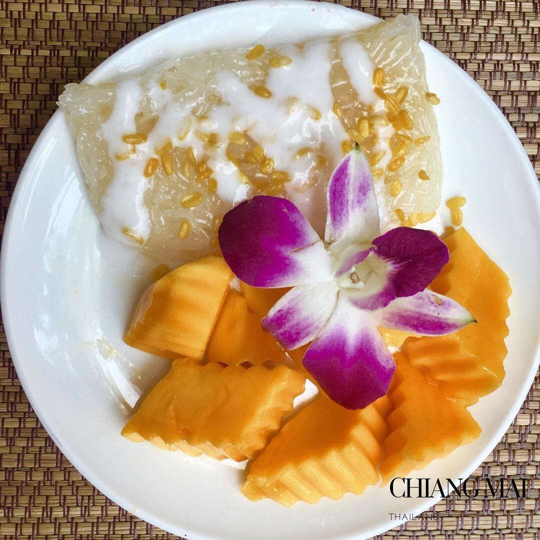 """The Old city Inn: """"riz collant"""" à la mangue sans gluten à Chiang Mai!"""