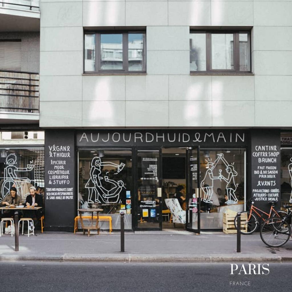 Aujourd'hui demain gluten free concept store in Paris