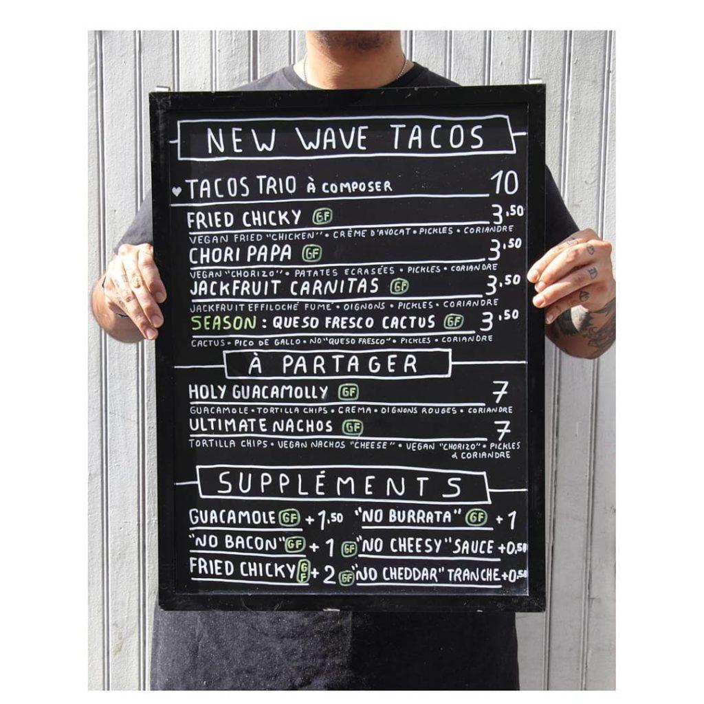 Menu tacos aujourd'hui demain