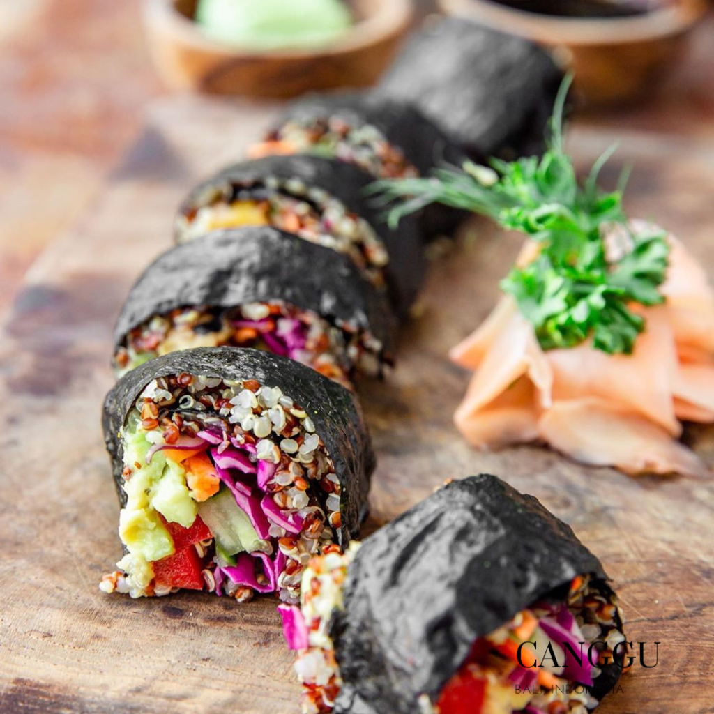 Organic roll in Canggu Organic Cafe