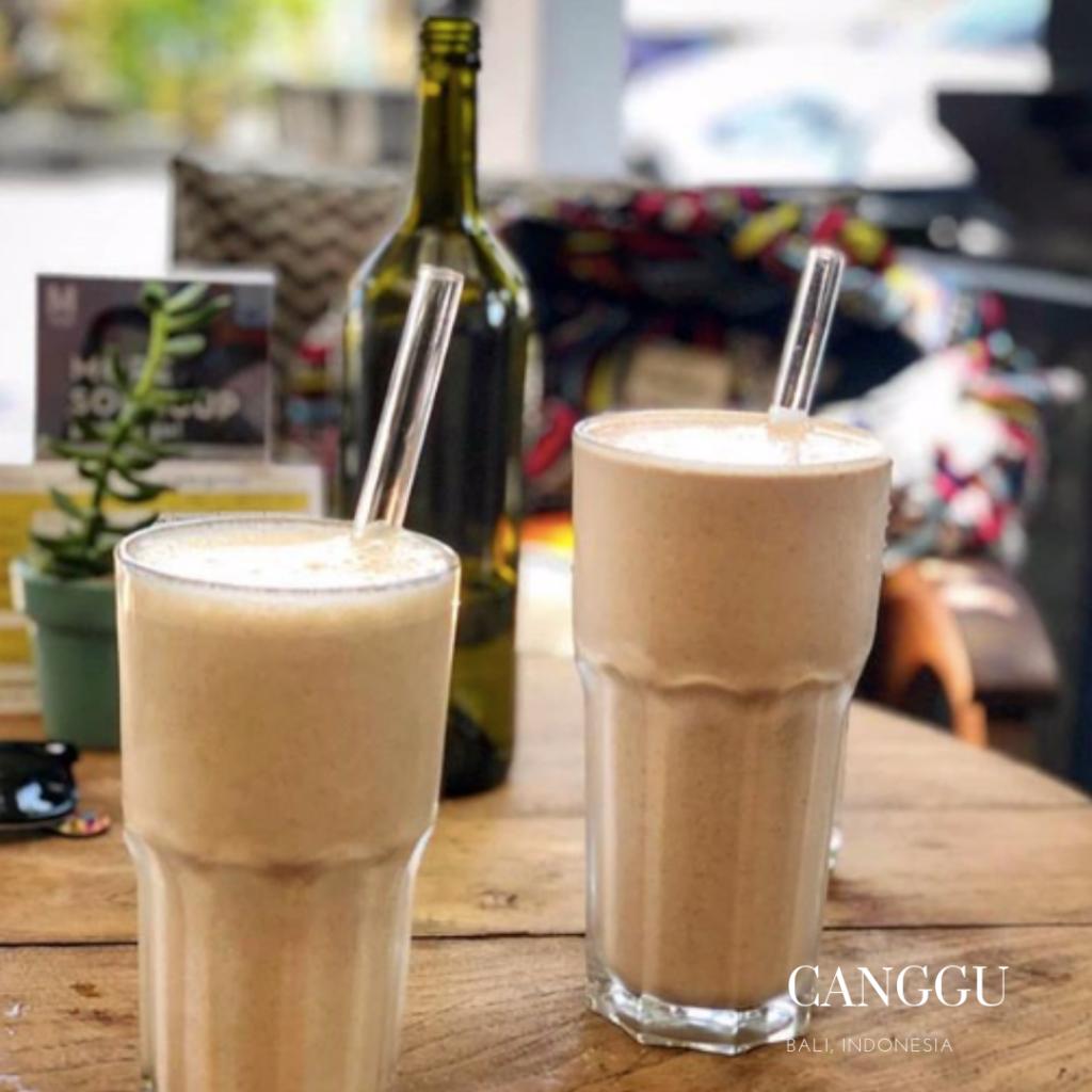 Protein shake in Canggu Motion cafe