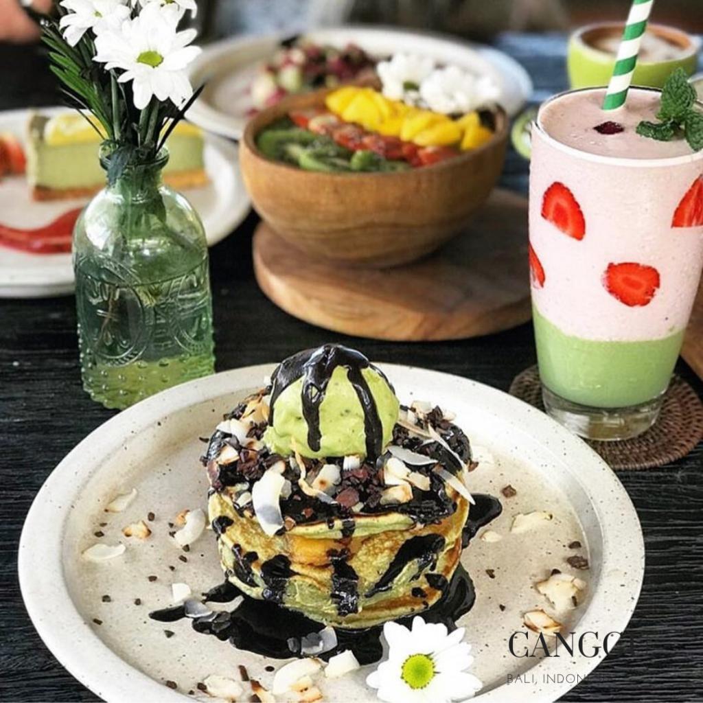 gluten free restaurant in Berawa Canggu pancake Matcha