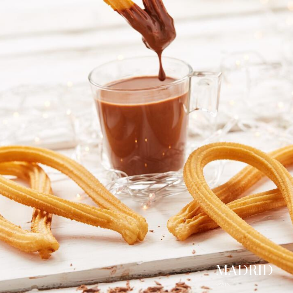gluten free churros Madrid chocolate