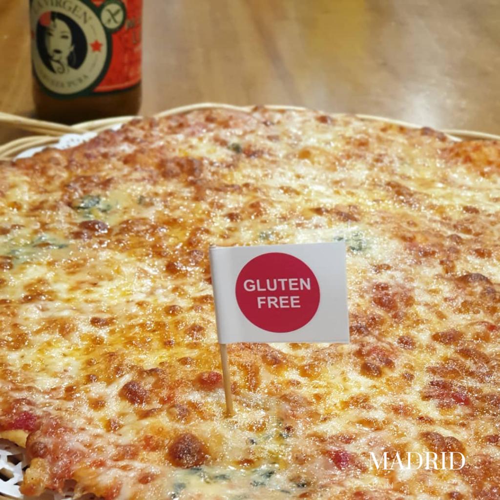 gluten free pizza in Madrid La Pizza + Sana