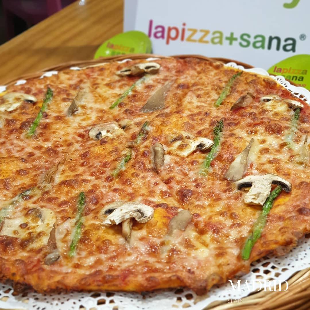 Pizza sans gluten à Madrid, proche de la Plaza de Lopez de la Plata: La Pizza + Sana