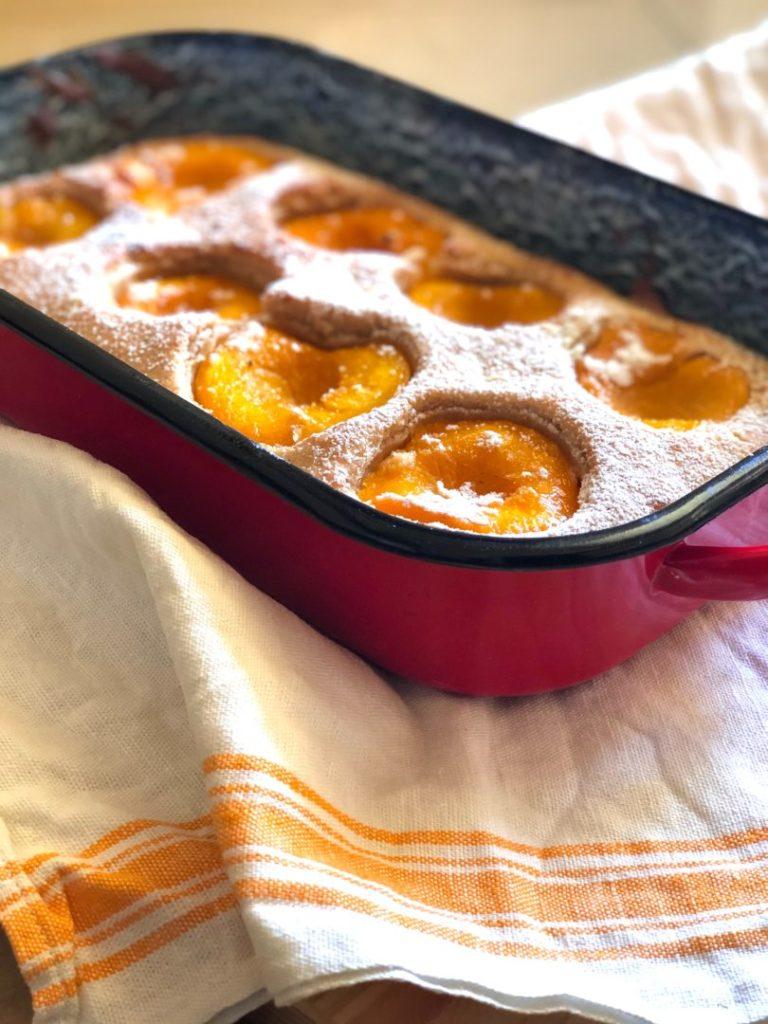 Gâteau à l'abricot et aux amandes sans gluten