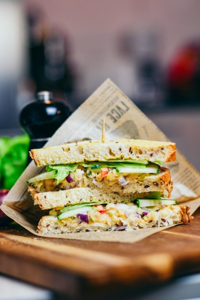 club sandwich vegan
