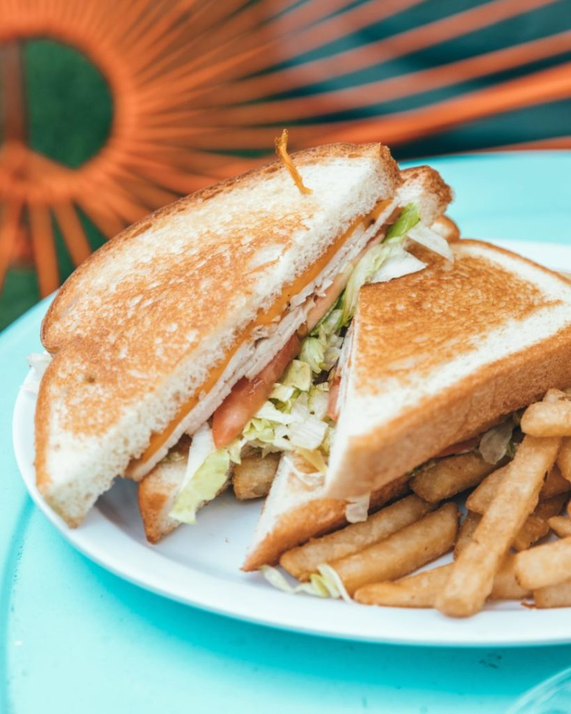 gluten free club sandwhich