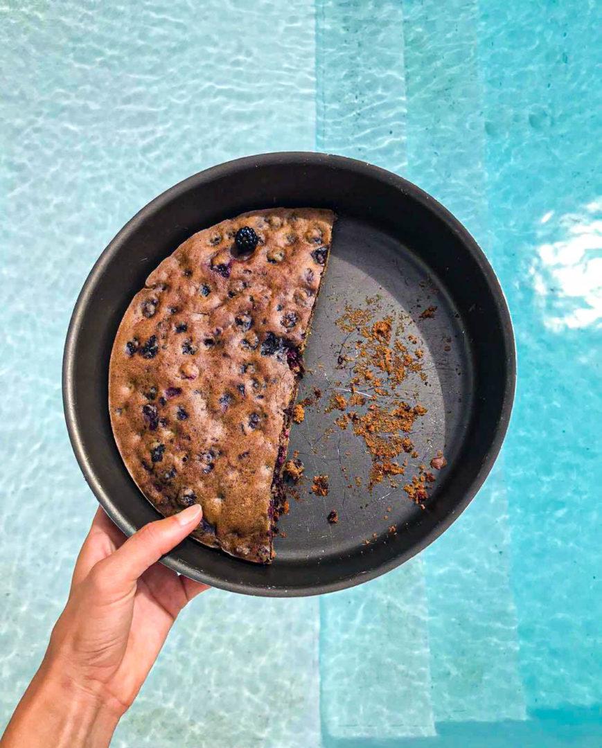 gâteau aux mures et sans gluten