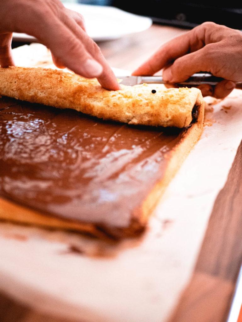 Roulé au chocolat sans gluten