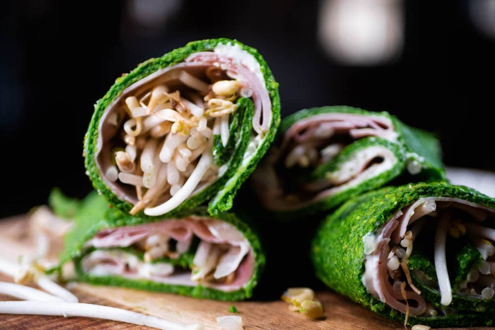 gluten free and lactose free spianch wraps