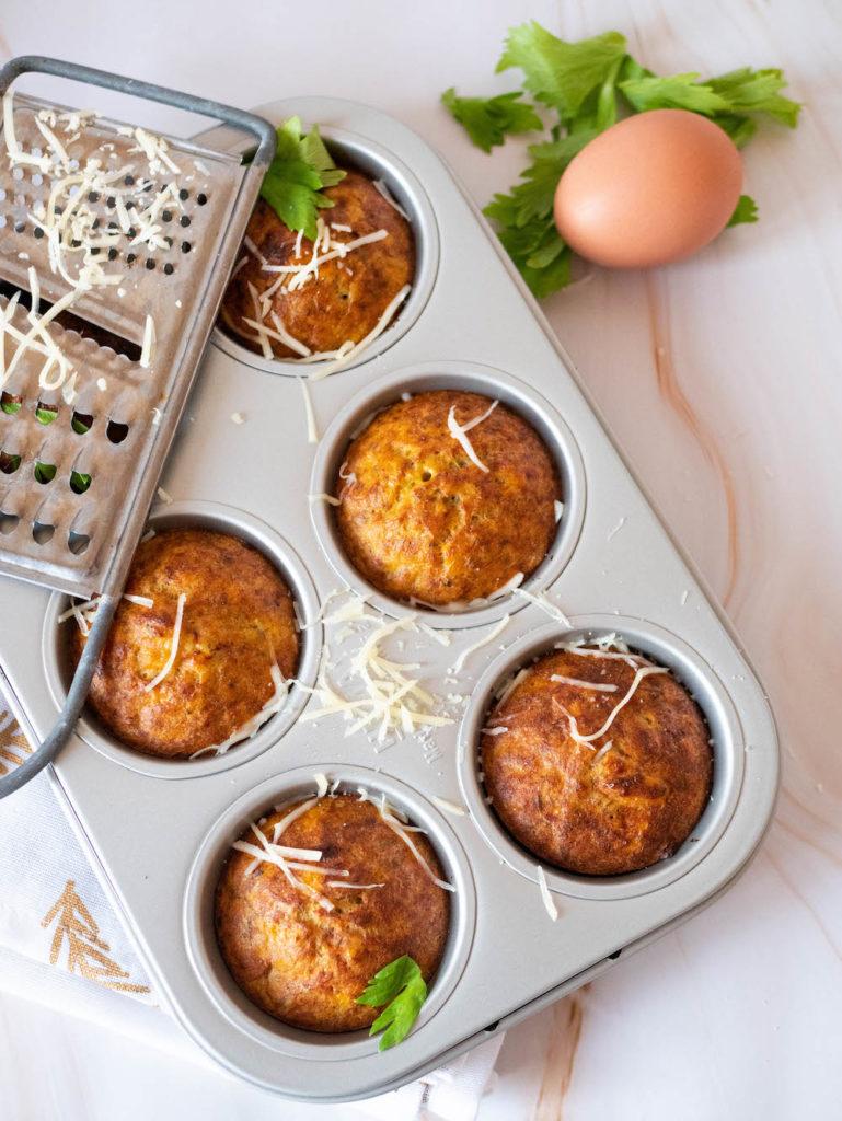6 muffins sans gluten au thon et à la patate douce