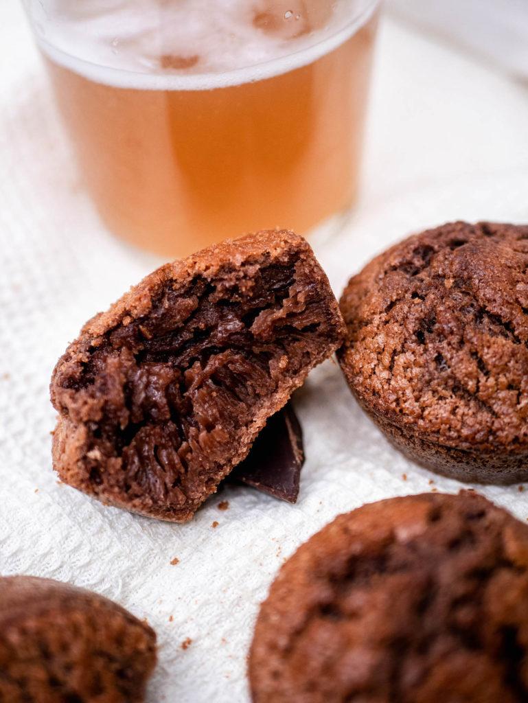 Intérieur des muffins sans gluten à la bière