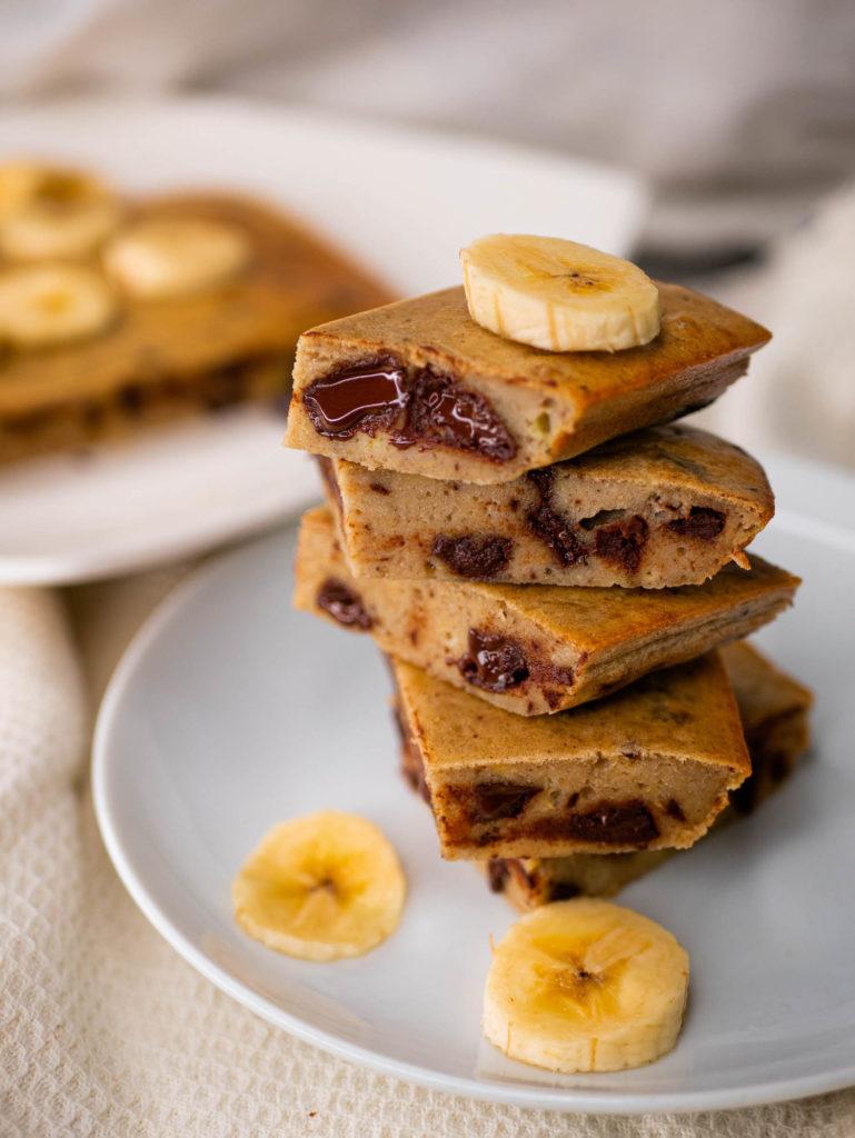 banana and chocolate brownie