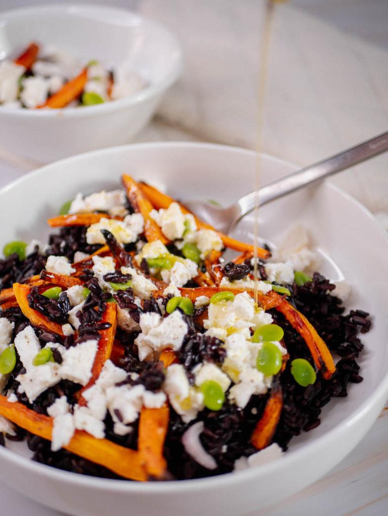 salade de riz noir carottes